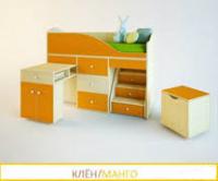 Кровать чердак Вжик клен-манго