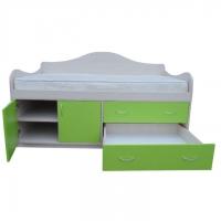 Детская кровать с ящиками и полками Принцесса -2 1600