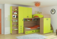 Детская комната кровать двухъярусная  Мики РМК Композиция 15