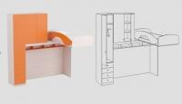Кроватный модуль КМ-06