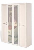 Шкаф для платья и белья 4х дв. ИД 01.119