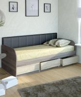 Кровать №12 + СМ черная №7 МДК 4.11