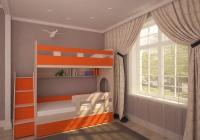 Кровать двухъярусная ЮНИОР 1 дуб оранжевый