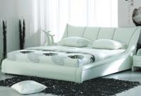 Кровать Татами 1007  натур. Кожа 160/200 c п/м