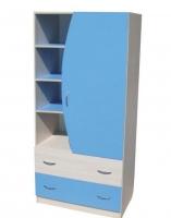 Шкаф Мартин детский дуб голубой
