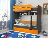 Кровать двухъярусная Юниор 5 бодего оранжевый
