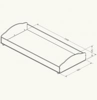 Кровать нижняя выкатная Дюймовочка 5.6