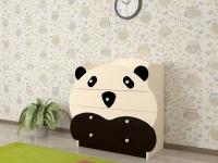 Детский низкий комод Панда