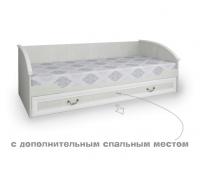 Кровать Классика белая широкая выкатная