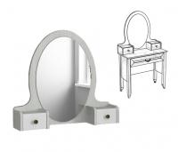 Надстройка с зеркалом на столик туалетный Классика белая