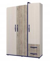 Шкаф для одежды 3-х дверный Тайм ИД 01.347