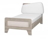 Кровать с мягким элементом 90*200 см с настилом Тайм ИД 01.265
