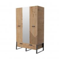 Шкаф для одежды с зеркалом Оскар ИД 01.368а