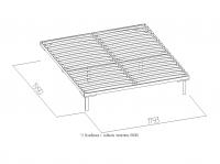 Основание универсальное с гибкими ламелями 1800 металл Спальня К