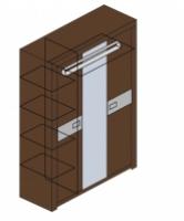 Шкаф для одежды М8 Спальня Модена