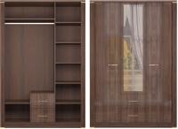 Шкаф для одежды с ящиками 3-х дверный с зеркалом 1 Спальня Париж