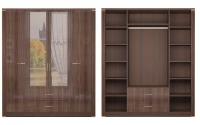 Шкаф для одежды 4-х дверный с зеркалами 2 Спальня Париж
