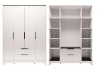 Шкаф для одежды 4-х дверный с ящиком без зеркал 2 Спальня Танго