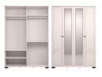 Шкаф для одежды 4-х дверный с зеркалом Спальня Лукреция