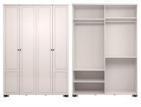 Шкаф для одежды 4-х дверный без зеркала Спальня Лукреция