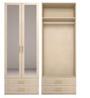 Шкаф для одежды 2-х дв с зеркалом 1 Спальня Скандинавия-Люкс
