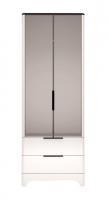 Шкаф для одежды с ящиками 2-х дверный с зеркалом 9 Спальня Танго