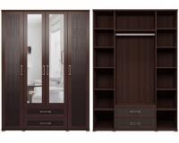 Шкаф для одежды с ящиками 4-х дверный 1 Спальня Аргентина