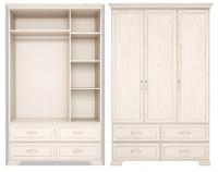 Шкаф для одежды 3-х дв. с ящиками без зеркала 1 Спальня Венеция