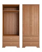 Шкаф для одежды 2-х дв. с ящиками 17 Спальня Венеция