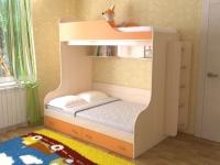 Детская двухъярусная кровать Дуэт 15
