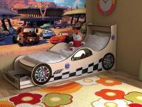Детская кровать Машинка с ящиком