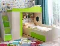 Кровать двухъярусная Кадет 2 с универсальной лестницей