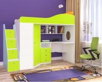 Кровать чердак Кадет 1 с универсальной лестницей с ящиками