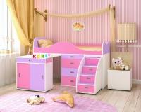 Детская кровать чердак Малыш Люкс