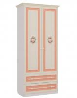 Шкаф двухстворчатый с ящиками Детская Алиса