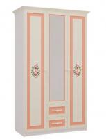 Шкаф трехстворчатый с ящиками Детская Алиса