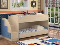 Кровать для двоих с выкатной кроватью внизу Дюймовочка-4.2