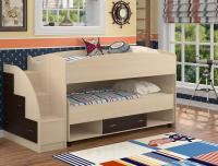 Кровать двухъярусная с выкатной нижней кроватью Дюймовочка-4.3