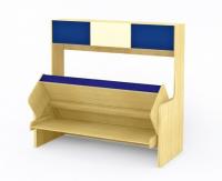 Кровать-стол трансформер с полками