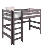 Полувысокая Кровать Соня Вариант 5 с прямой лестницей