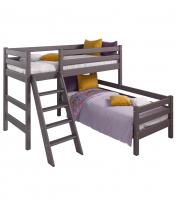 Угловая Кровать Соня Вариант 8 с наклонной лестницей