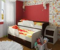 Кровать двухъярусная выдвижная Фанки Кидз 8