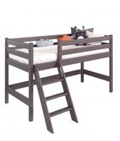 Низкая Кровать Соня Вариант 12 с наклонной лестницей