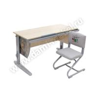 Комплект мебели ДЭМИ с рисунком (парта 120 см + стул) CУТ 15-01